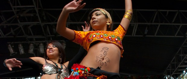 two belly dancers
