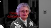 grandmother in Christmas sweater