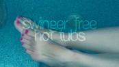 feet in a hot tub