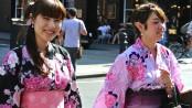 two women in kimonos