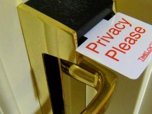privacy hotel door tag