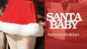 """woman in short """"Santa"""" dress"""