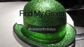 green glittery hat