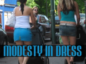 two moms pushing strollers in revealing clothing